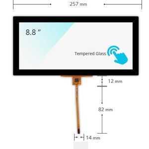 "BMW F10 8.8"" Capacitive Touch Panel"
